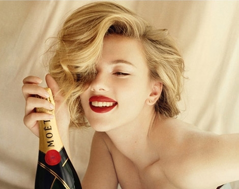 Scarlett Johansson For Moet And Chandon Ad Campaign