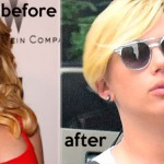Scarlett Johansson new haircut before and after
