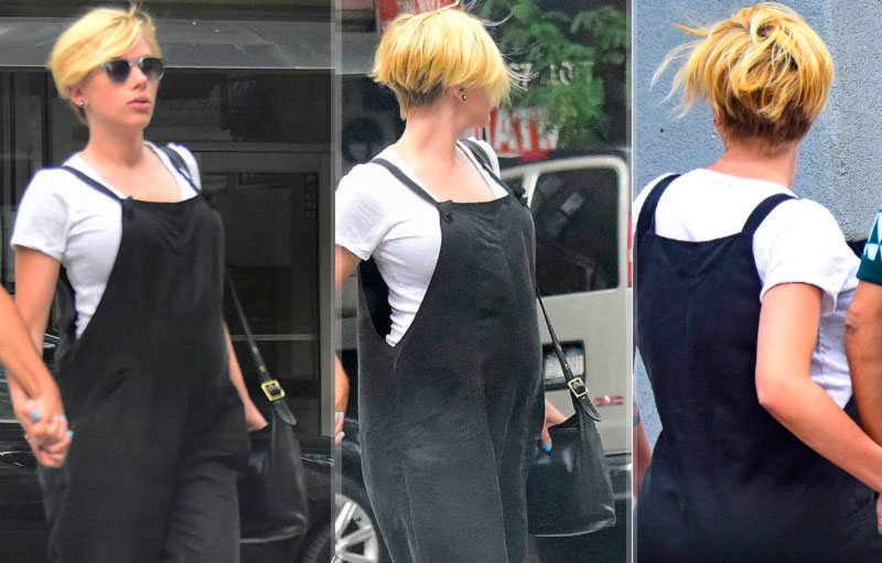 Scarlett Johansson new short haircut