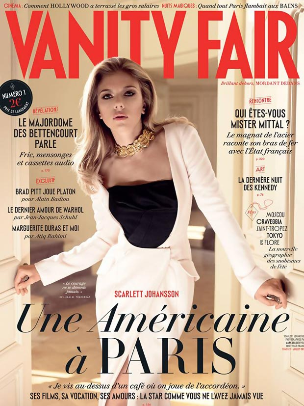 Scarlett Johansson Brings Vanity Fair In France