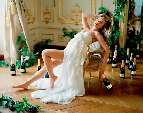Scarlett Johansson's Moet And Chandon Campaign. More