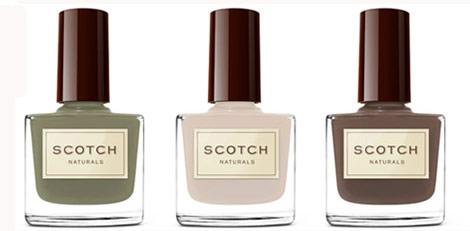 Scotch Natural Nail Polish green hues