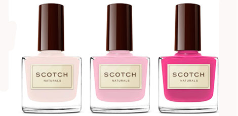 Scotch Natural Nail Polish Pink hues