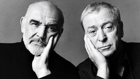 Sean Connery and Michael Caine Vanity Fair