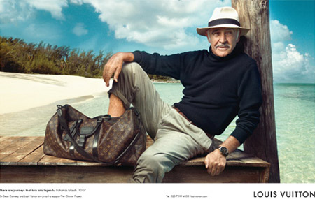 Sean Connery Louis Vuitton core values ad campaign by Annie Leibovitz