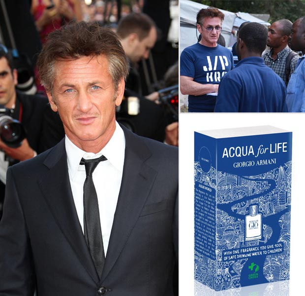 Sean Penn Acqua di Gio water charity for Haiti