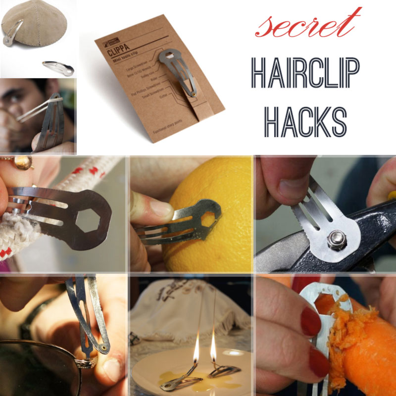 secret hacks hairclip as multitool gadget