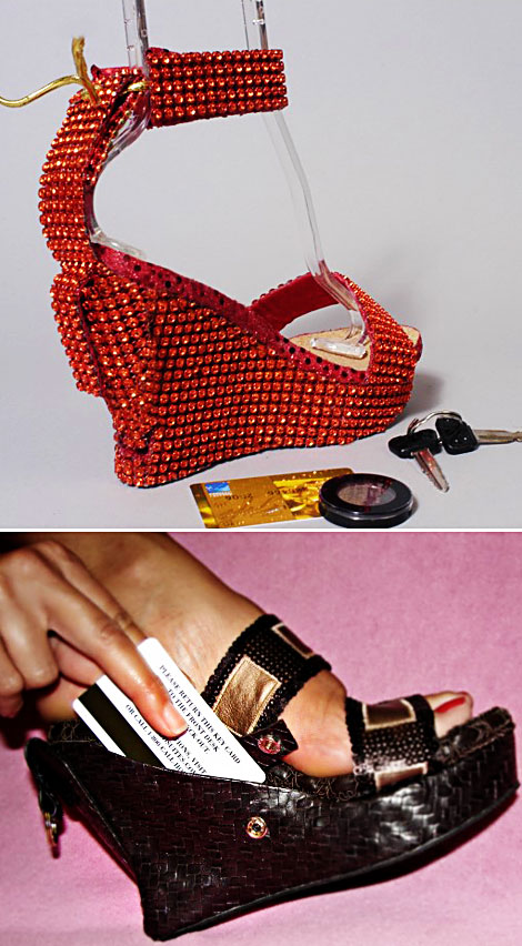 No More Bags For Dancing Nights, Your Wedges Can Be Your Purse!