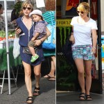 Selma Blair sandals Birkenstock Arizona black