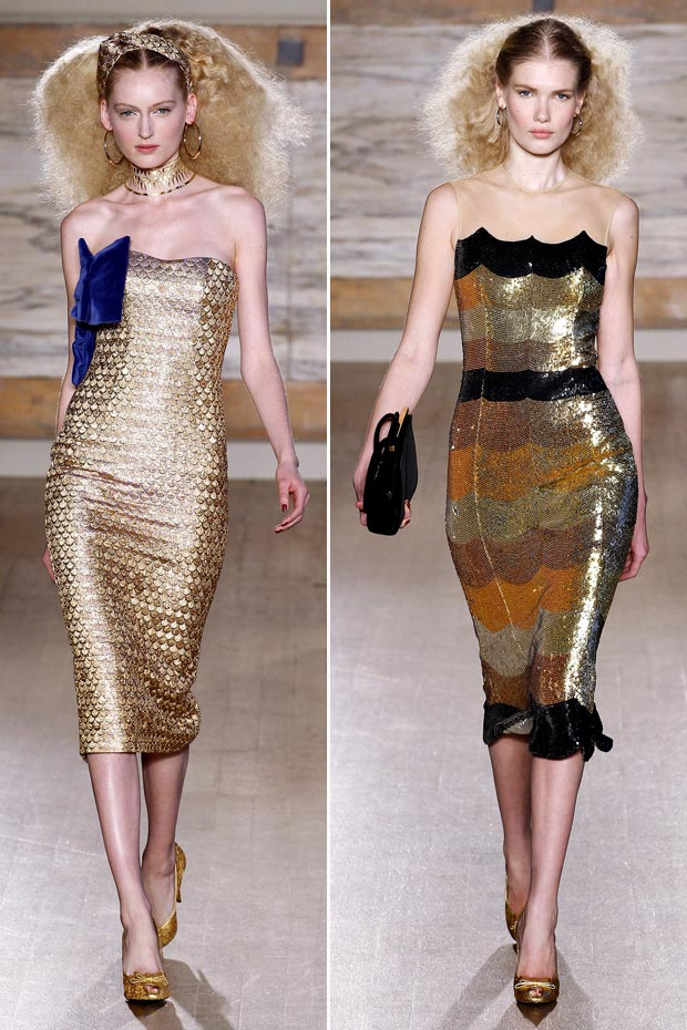 sequined dress for Fall LWrenn Scott Fall 2013 collection