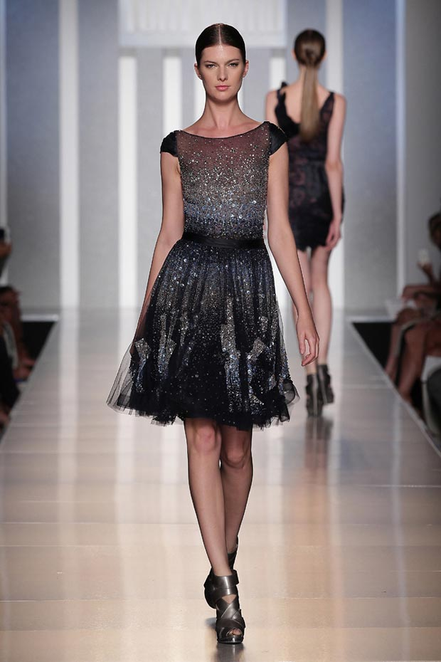 sequined dress worn by Julianne Hough Tony Ward couture