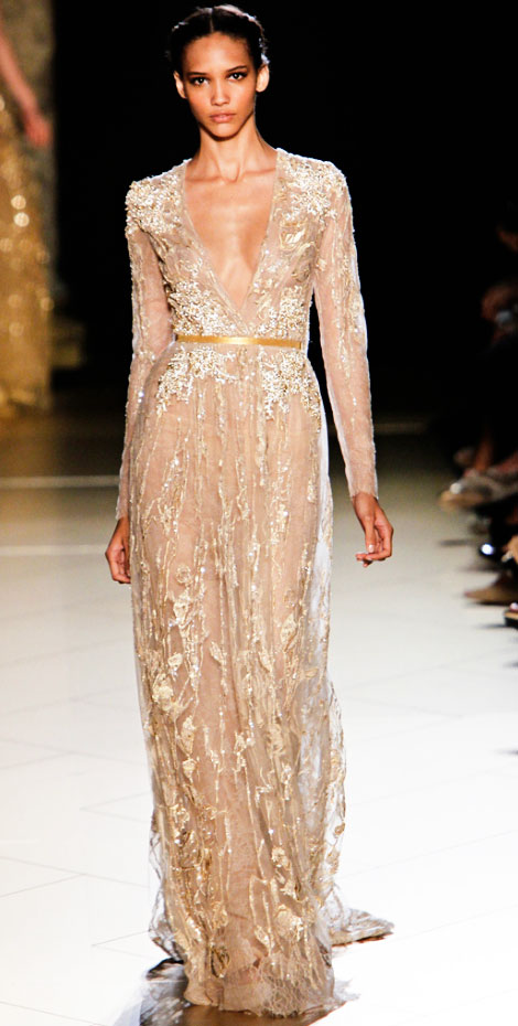 sequined elegance Elie Saab Fall 2012 Haute Couture