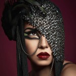 sequined headpiece posh fairytale couture