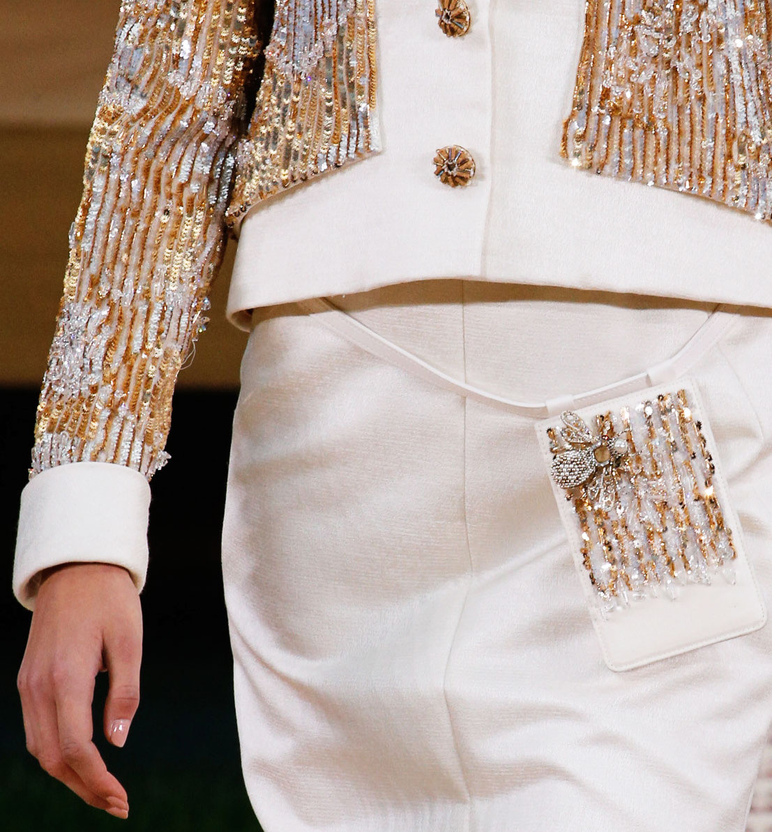 sequins beads Chanel Spring 2016 Couture
