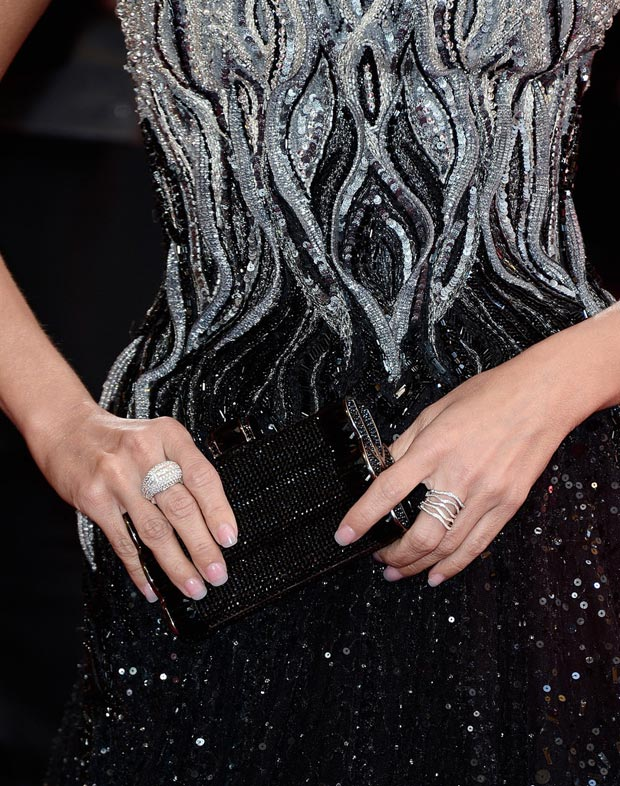 sequins detail Tony Ward dress Kirstin Chenoweth 2013 Oscars