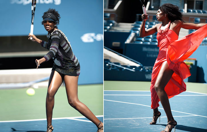 Serena and Venus Williams Tennis Fashion Match 4