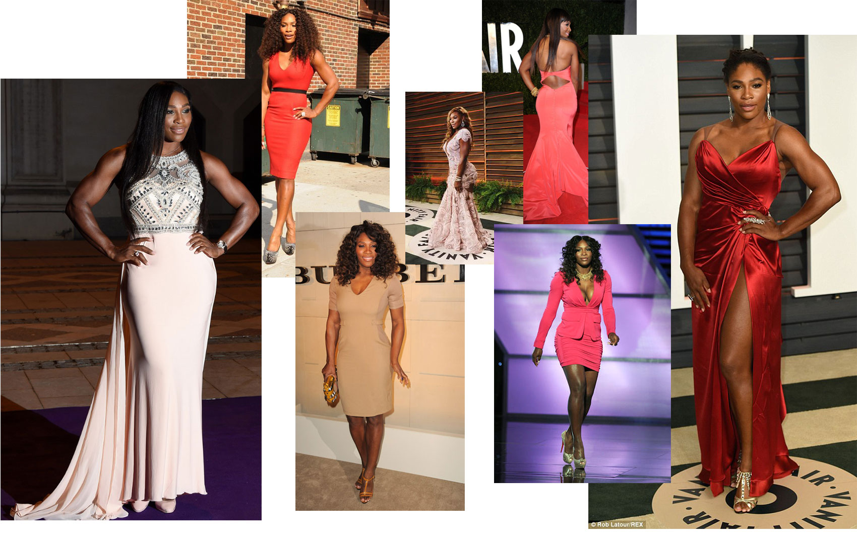 Serena Williams evening dresses red carpet