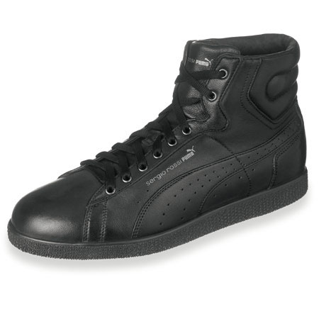 Sergio Rossi Puma FW09 black leather sneaker