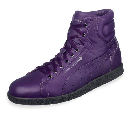 Sergio Rossi Puma FW09 purple leather sneaker