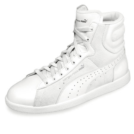 Sergio Rossi Puma FW09 white leather sneaker