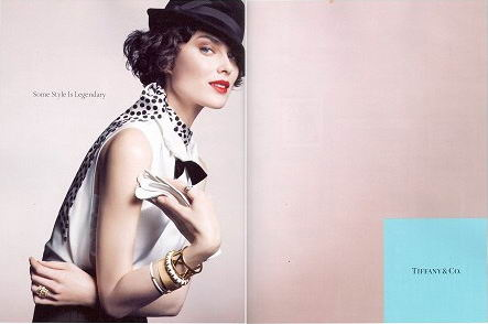 Shalom Harlow Tiffany Co Ads