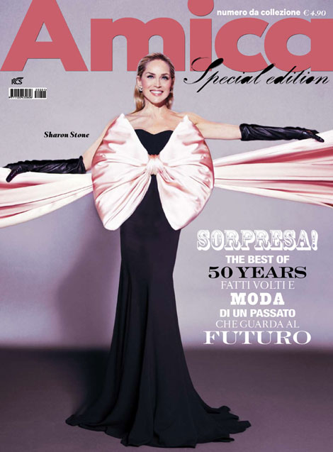 Loving Sharon Stone's Amica Bow Dress Cover