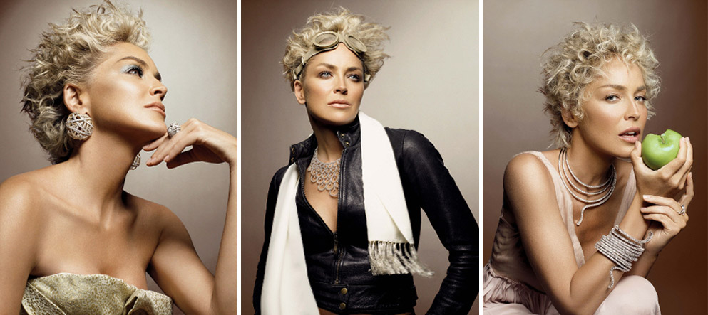 Sharon Stone Damiani Ads