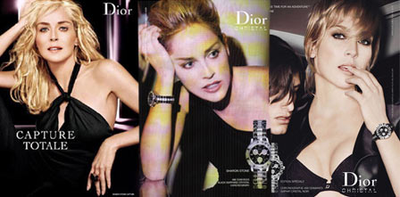 Sharon Stone Dior Ads