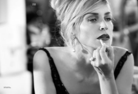 Sharon Stone Gomillion Leupold photography for Amica