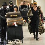 Sharon Stone Louis Vuitton luggage