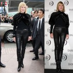 Sharon Stone Skinny Leather pants 3