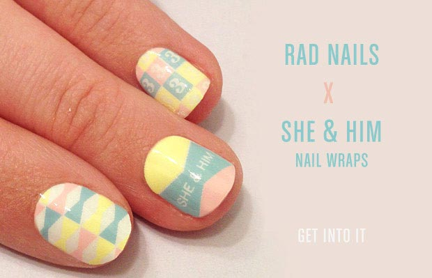 Nails Like Zooey Deschanel: Rad Nails Wraps
