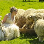 Sheep Wool Wedding dress