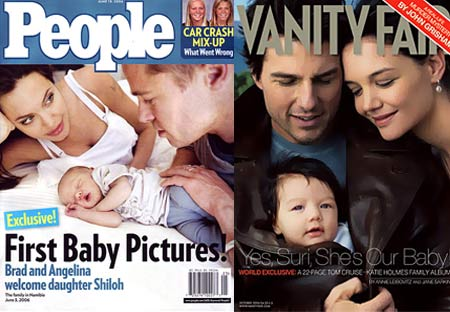 Shiloh Jolie-Pitt and Suri Cruise Magazine Covers