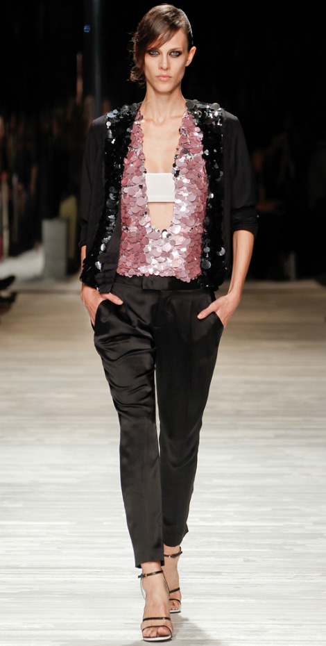 shiny evening pants suit Iceberg Spring Summer 2012
