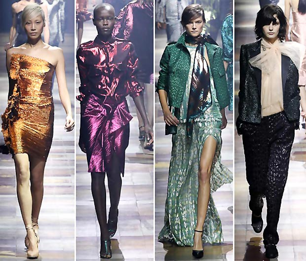 shiny fabric Lanvin Spring Summer 2014 collection