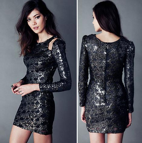 shiny trendy party dress