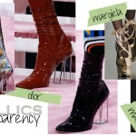 shoes trends 2015 metallics transparency