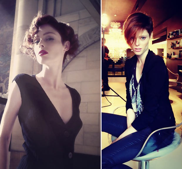 short hair styling ideas Coco Rocha
