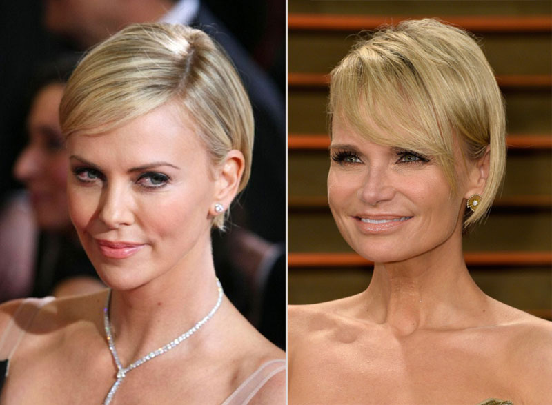 Short Hairstyle Inspiration Charlize Theron Oscars Kristin Chenoweth