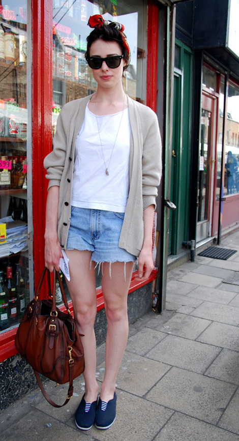 Short Jeans Cardi outfit