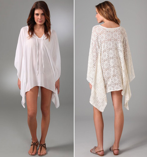 short white caftan dresses