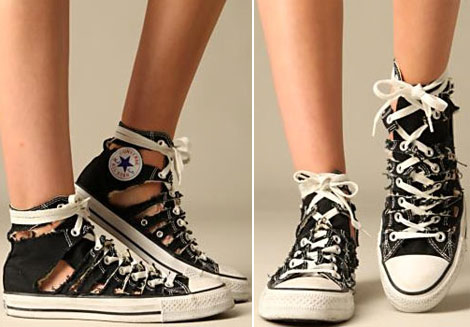 Shredded Converse Sneakers Free People