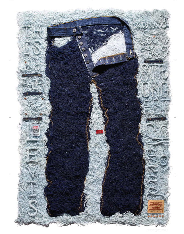 Shredded Levis 501 Stefan Segmeister Paper Mag March