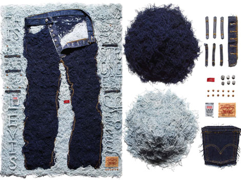 Paper's Shredded Levis 501 By Stefan Sagmeister