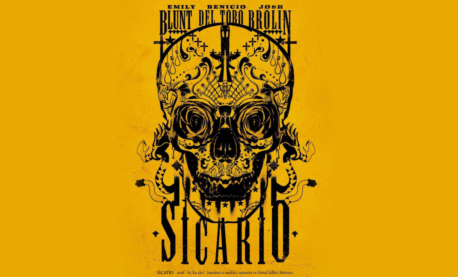Sicario movie yellow poster