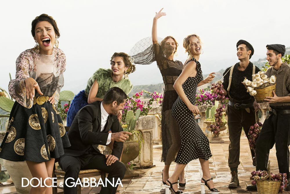 sicilian party Dolce Gabbana Spring Summer 2014 ad campaign