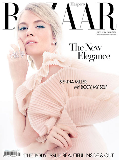 Sienna Miller's Baby Epiphany, Harper's Bazaar UK January 2013