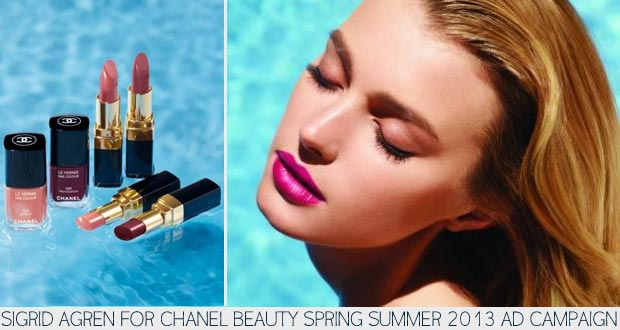 Sigrid Agren Goes Movie Star For Chanel Beauty New Ad Campaign