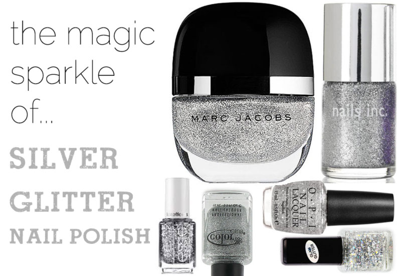 silver glitter nail polish must have